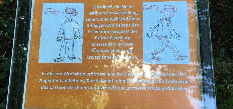 """Nach dem Comic-Workshop mit Kim Schmidt: Thema """"Generationen"""" im Park"""